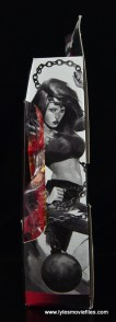 Marvel Legends Thundra figure review - package side