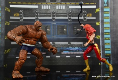 Marvel Legends Thundra figure review - vs Thing