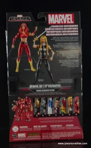 Marvel Legends Valkyrie figure review - package rear