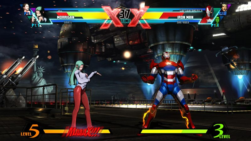 Ultimate Marvel vs Capcom 3 - Morrigan vs Iron Patriot