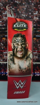 WWE Elite 40 Umaga figure review - package side