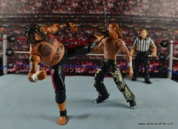 WWE Elite 40 Umaga figure review - savate kick to HBK