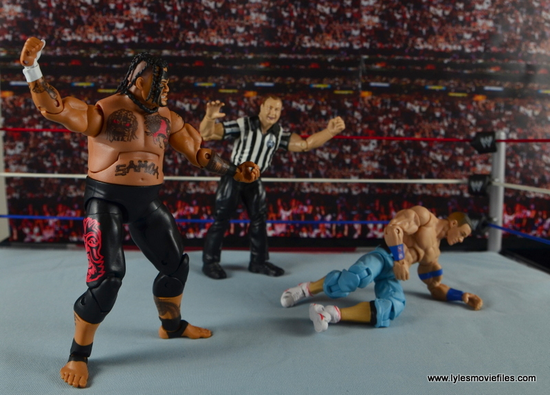 WWE Elite 40 Umaga figure review - stalking John Cena