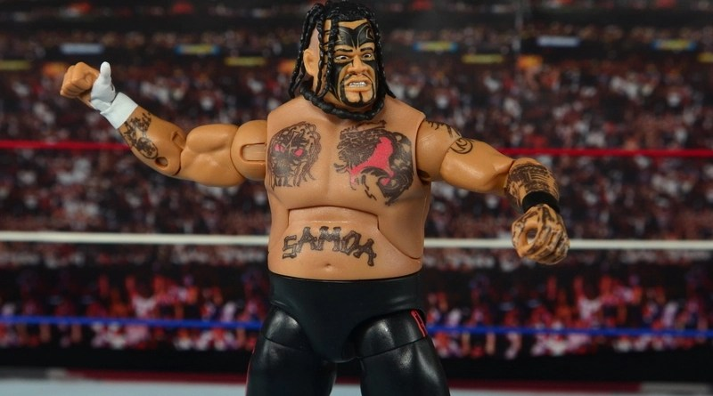 WWE Elite 40 Umaga figure review - wide shot