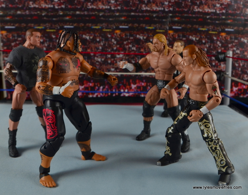 WWE Elite 40 Umaga figure review - with Randy Orton facing off against DX