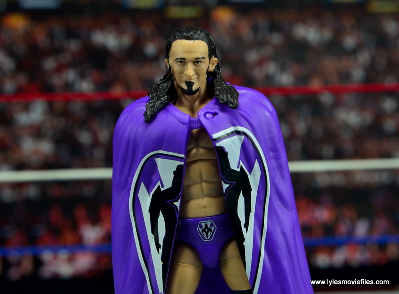 WWE Elite 42 Neville figure review - wide shot with cape