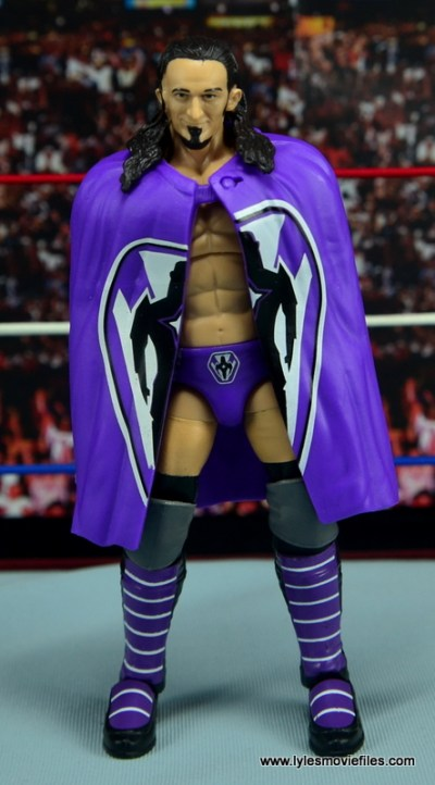 WWE Elite 42 Neville figure review - with cape straight