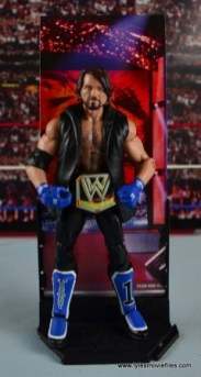 WWE Elite AJ Styles figure review - with backdrop