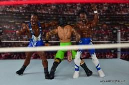 WWE Elite New Day figure review - Big E and Kofi double clothesline