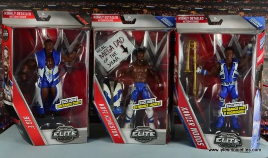 WWE Elite New Day figure review - front packages