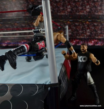 WWE Elite Sami Zayn figure review - dive through DDT to Kevin Owens