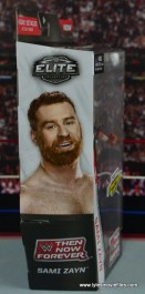 WWE Elite Sami Zayn figure review - package side