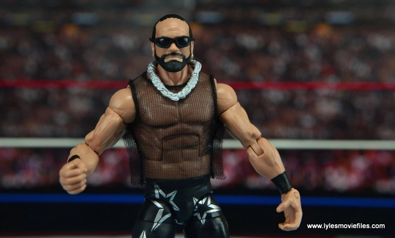WWE Elite Then Now Forever Macho Man Randy Savage figure review - accessories with mesh shirt