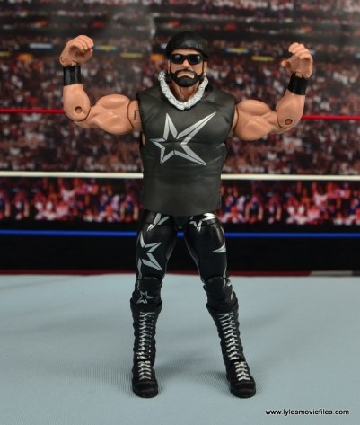 WWE Elite Then Now Forever Macho Man Randy Savage figure review - flexing
