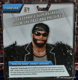 WWE Elite Then Now Forever Macho Man Randy Savage figure review - package bio