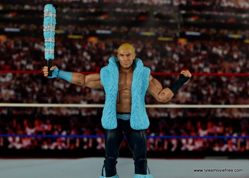WWE Elite Tyler Breeze figure review - lifting up selfie stick