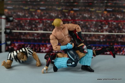 WWE Elite Tyler Breeze figure review - single crab to Finn Balor