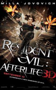 resident evil afterlife movie poster