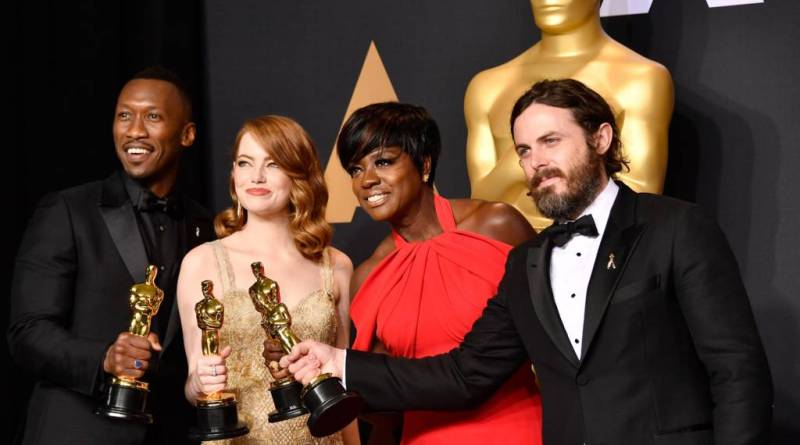 2017 Oscars - Mahershala Ali, Emma Stone, Viola Davis and Casey Affleck