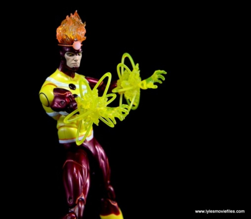 DC Icons Firestorm figure review - aiming nuclear blasts