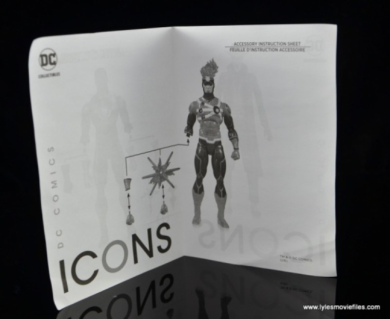 DC Icons Firestorm figure review - instructions