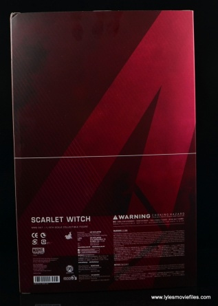 Hot Toys Scarlet Witch figure review - package rear