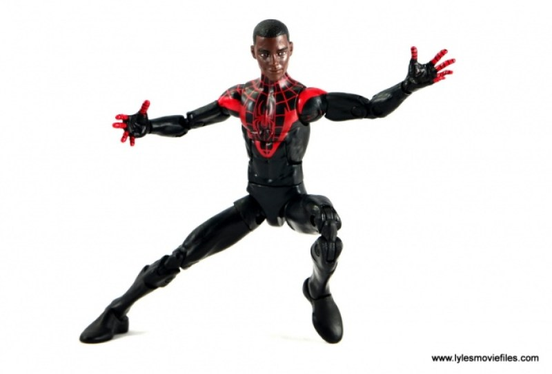Marvel Legends Miles Morales figure review - Miles mask off