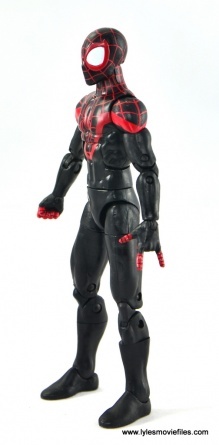 Marvel Legends Miles Morales figure review - left side