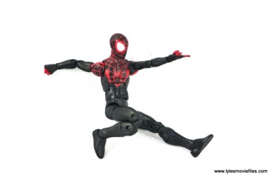 Marvel Legends Miles Morales figure review - web slinging