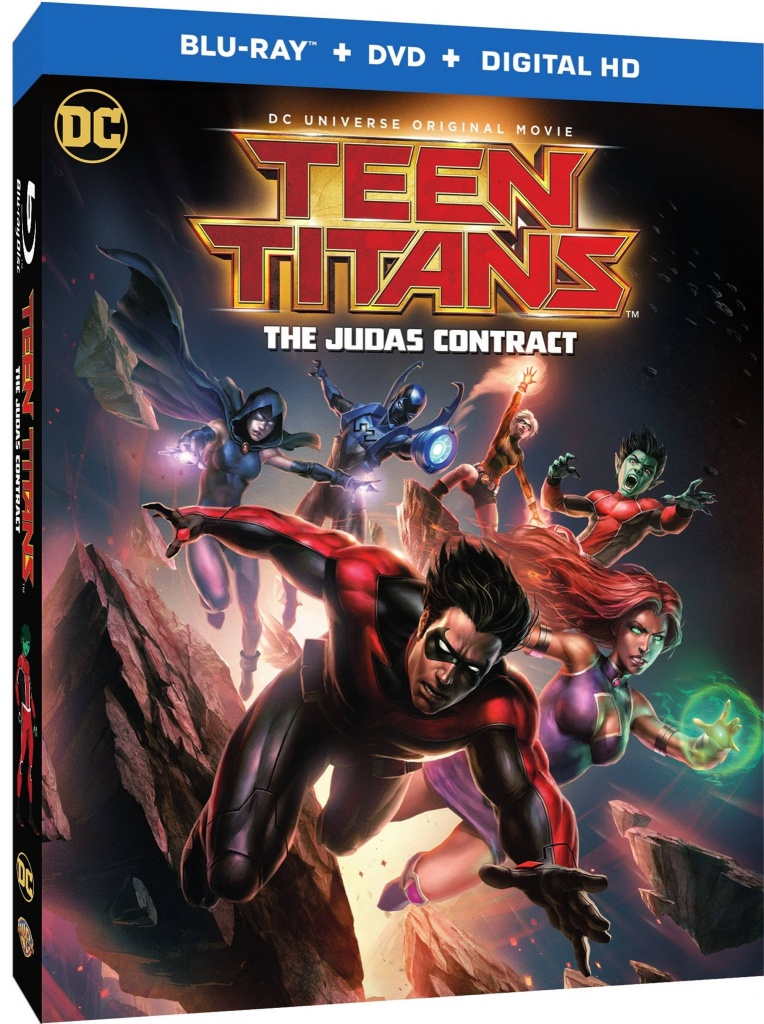 Teen Titans - The Judas Contract - Blu Ray cover