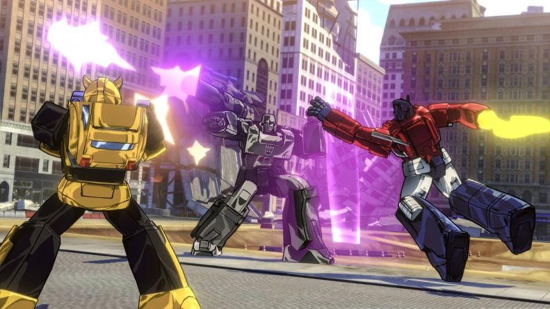 Transformers Devastation review - Bumblebee and Optimus Prime vs Megatron