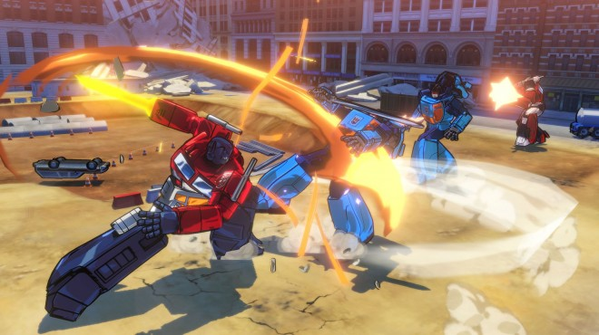 Transformers Devastation review - Optimus Prime battling