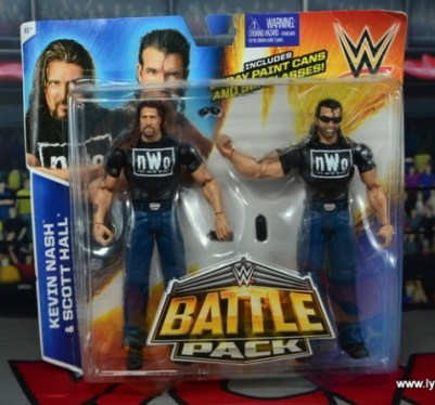 WWE Mattel The Outsiders Battle Pack figure review - front package