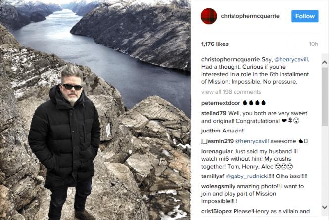 Christopher McQuarrie Instagram
