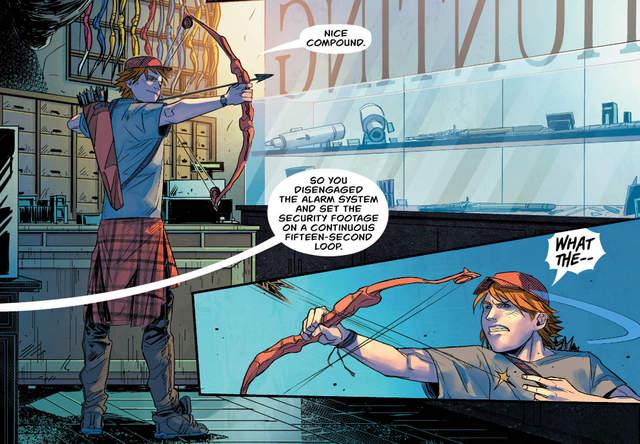Green Arrow #18 interior art