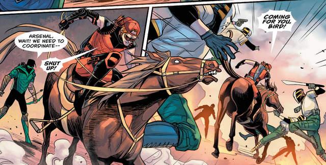 Green Arrow #19 interior art