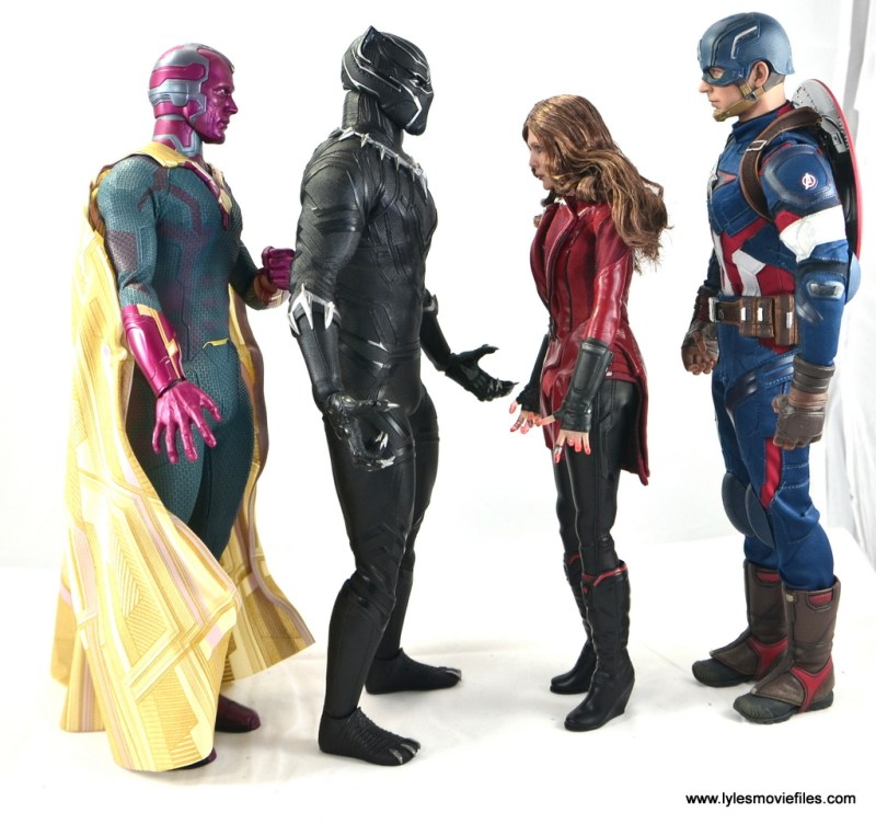 Hot Toys Black Panther figure review - Vision, Scarlet Witch and Captain America