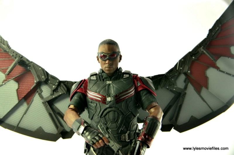 Hot Toys Captain America Civil War Falcon figure review -closeup wings up