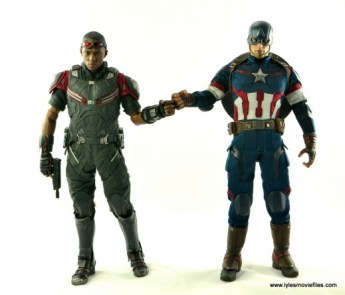 Hot Toys Captain America Civil War Falcon figure review -fist bump to Captain America