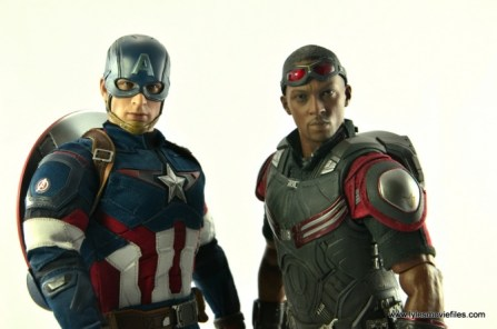 Hot Toys Captain America Civil War Falcon figure review -next to Captain America