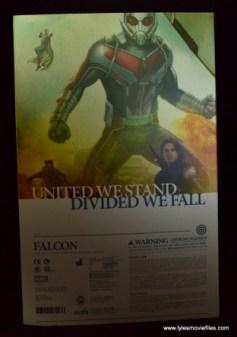Hot Toys Captain America Civil War Falcon figure review -package rear