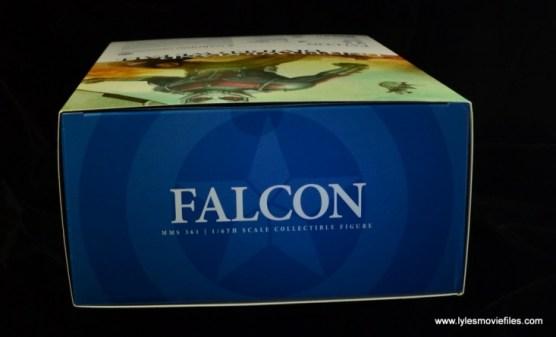 Hot Toys Captain America Civil War Falcon figure review -package top