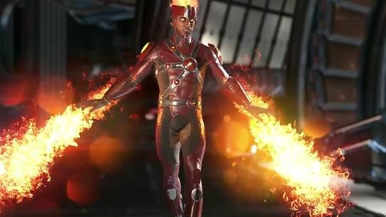 Injustice 2 Firestorm flying