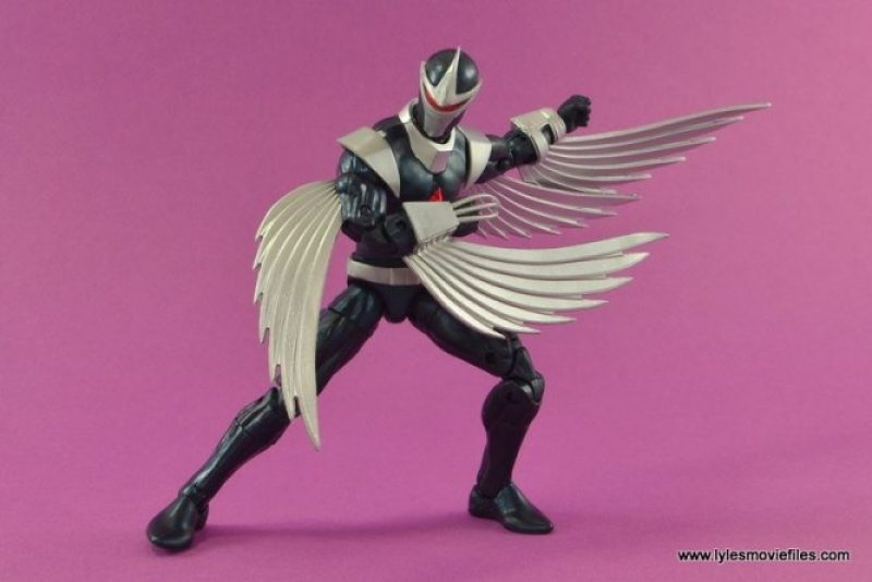 Marvel Legends Darkhawk figure review - crouching