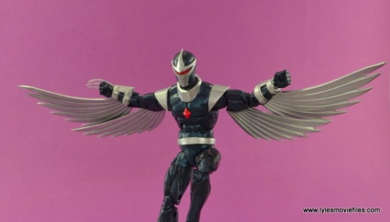 Marvel Legends Darkhawk figure review - wide pose