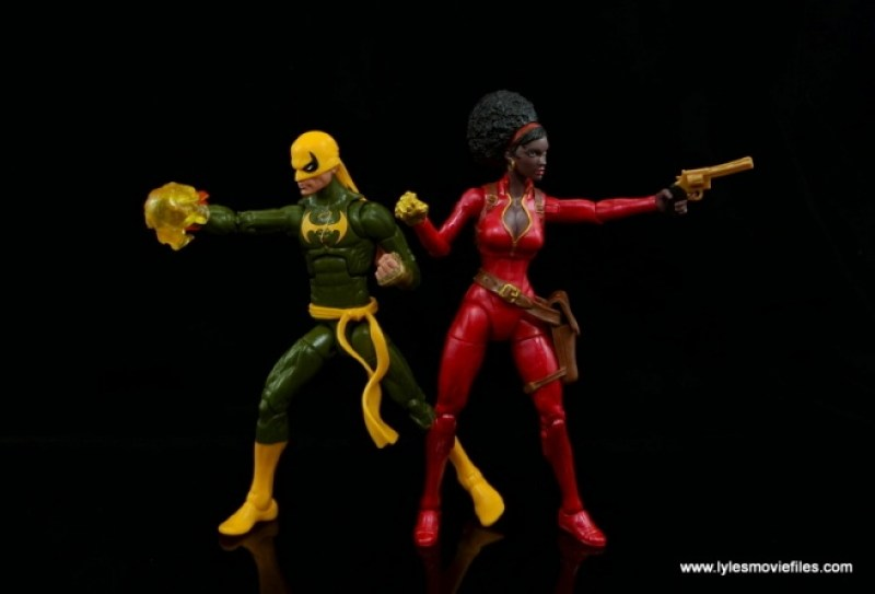 Marvel Legends Iron Fist figure review - back to back with Misty Knight
