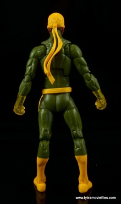 Marvel Legends Iron Fist figure review - rear