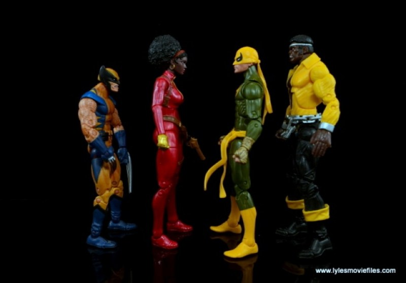Marvel Legends Iron Fist figure review - scale with Wolverine, Misty Knight and Power Man