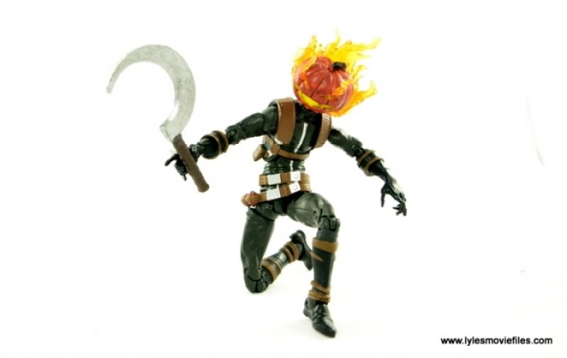 Marvel Legends Jack O'Lantern figure review - crouched with scythe