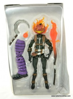 Marvel Legends Jack O'Lantern figure review - figure in tray